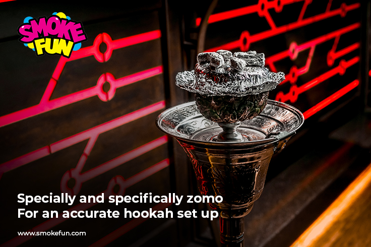 Specially and specifically zomo-For an accurate hookah set up